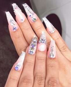 nail design with stones 11