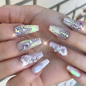 nail design with stones 8