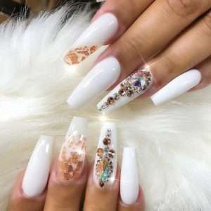 nail design with stones 9